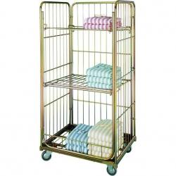 Wózek szpitalny na bieliznę, osiatkowany, 3 półki - GW 1700