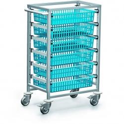 Wielofunkcyjny wózek szpitalny z koszykami na medykamenty
