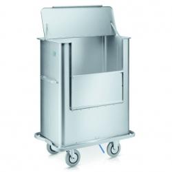 Wózek szpitalny z pokrywą, do ochrony materiałów , model W 171
