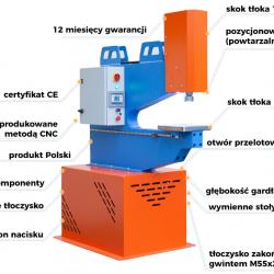 Prasa hydrauliczna UPV20L 20 ton nacisku Uniwersalna ULTRA PRAS