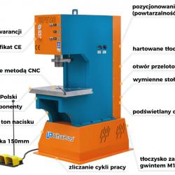 Prasa hydrauliczna UPV80 ULTRA PRAS Uniwersalna nacisk 80 ton