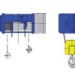 Stacjonarne wciągniki linowe typu M - układ lin 2/1