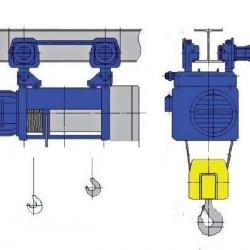 Wciągniki linowe typu M - układ lin 2/1