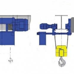 Wciągniki linowe typu M - układ lin 4/1