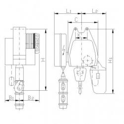 Wciągnik łańcuchowy Typ B - stacjonarny (mocowany na haku lub sworzniach)