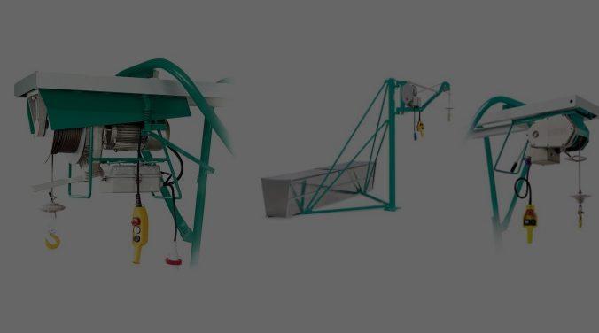 Wciągarki i wciągniki linowe, elektryczne, budowlane